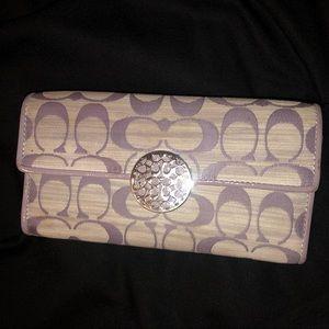 Purple Coach Wallet Authentic